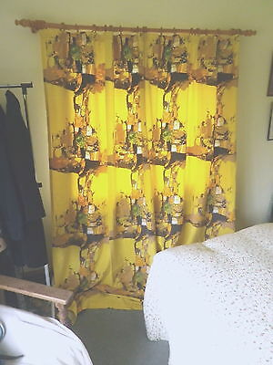 Vintage 1960's Cotton Curtains David Whitehead 'Cyclades' Donald Hamilton Fraser
