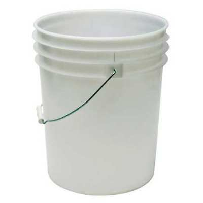 3.5 gal. ZORO SELECT ROP2135-WM Pail White Open Head