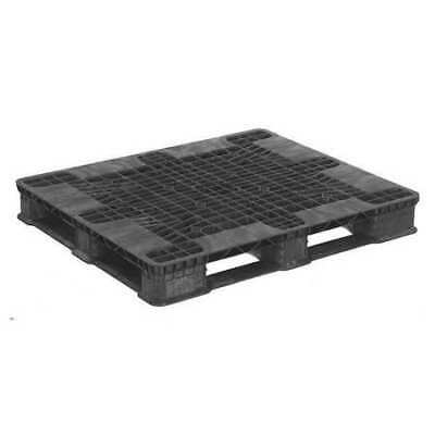 ZORO SELECT 40X48 STCKR BLK OPN STR Pallet,Black,48in.Lx40in.Wx5-29/32in.H
