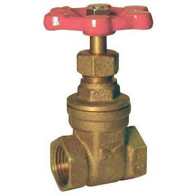 Gate Valve,Brass,1/4 In,Brass ZORO SELECT 6TWJ6