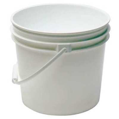 Pail, 1.0 gal., Plastic Handle, White