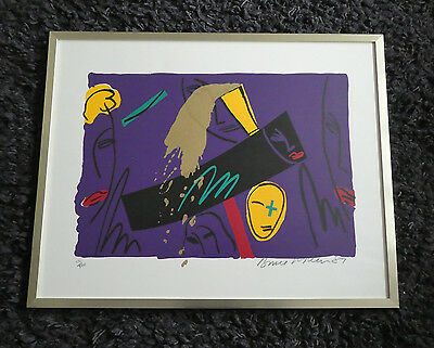 "BRUCE McLEAN b1944 Limited Edition SCREENPRINT ""Swiss Bank"" 231/500"