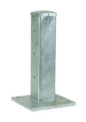 5JEX8 Guard Rail Post, Double High Center, L 4In