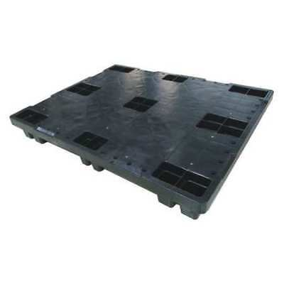 ZORO SELECT 2PE64 Pallet,1,200 lb.,48 In. L,40 In. W,Black