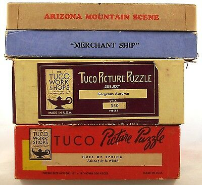 Lot of 4 Vintage Jigsaw Puzzles Tuco Jig-Wig Jig of the Week