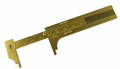 """3"""" 80 MM Solid Brass Vernier Gauge Jewelry Stone Measuring Inches Millimeters"""