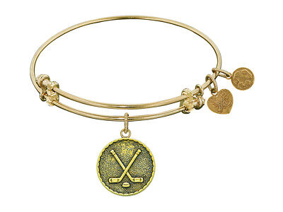 Angelica Collection Antique Yellow Stipple Finish Brass hockey Expandable Bangle