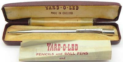 Vintage Solid Silver Yard O Led Propelling Pencil, London 1959, Boxed.