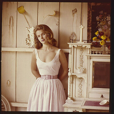 LEE REMICK alluring Vintage portrait Original 2 1/4 Photo TRANSPARENCY Slide