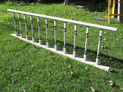 Antique Vintage Victorian Wood Architectural Porch Railing Balustrade Fence 96""