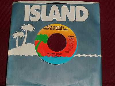 "BOB MARLEY & THE WAILERS ""Is This Love"" Island IS-099"