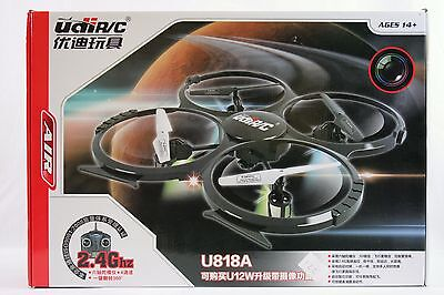 UDI U818A RC 2.4GHz 4CH 6-Axis RTF Quadcopter Drone with HD Camera & 2GB MicroSD