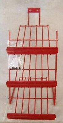 """Store Fixture Supplies NEW 3 LEVEL COUNTER TOP DISPLAY RACK RED 19"""" tall"""