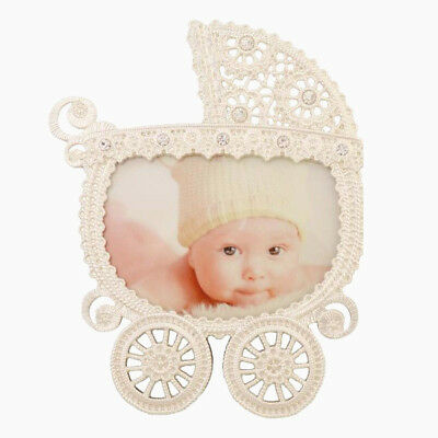 Silver Diamante Baby Girl Boy ~ Nanny Pram Buggy ~ Photo Picture Frame ~ Newborn