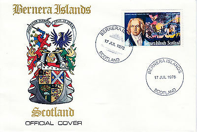 GB Locals - Bernera 3791 - 1978 COMPOSERS - BEETHOVEN 40p perf on FDC