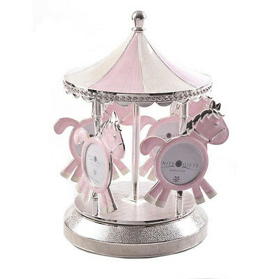 Baby Girls Musical Moving Carousel Merry Go Round Photo Picture Frame Nursery
