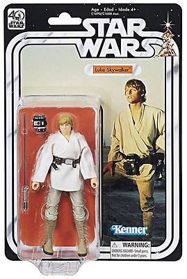 "Star Wars 40Th Anniversary Black Series 6"" Inch Luke Skywalker Figure"