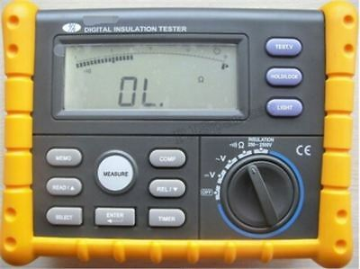 Digital Insulation Earth Ground Resistance Tester Meter 0.01Mω ~10.0Gω O