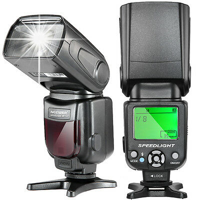 Neewer NW-561 LCD Display Speedlite Flash for DSLR Cameras w/ Standard Hot Shoe