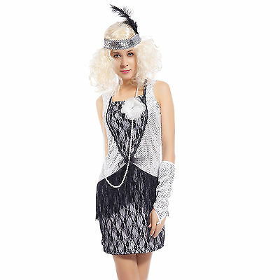 Cosplay Costume Donna Travestimento Vintage Chicago Charleston Anni '20 e '30