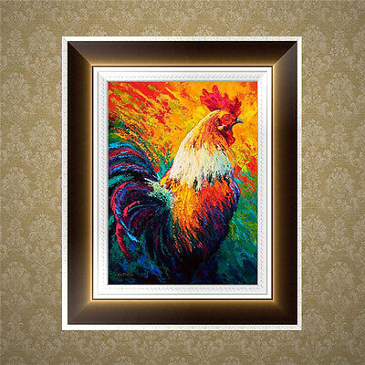 5D Diamond Embroidery Rooster Painting Cross Stitch DIY Craft Home Office Decor