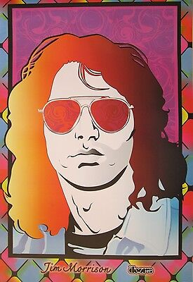 "The Doors ""colorful Shot Of Jim Morrison Wearing Sunglasses"" Poster From Asia"