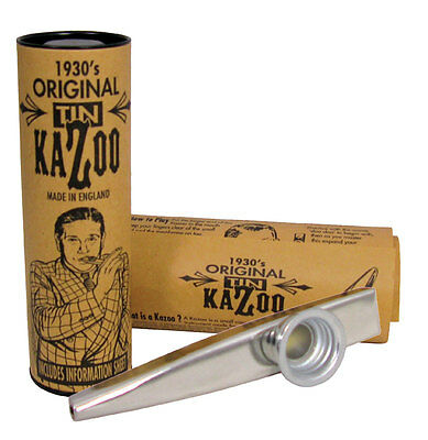 Clarke METAL KAZOO, Silver col. Traditional design made in England. At Hobgoblin