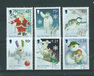 Isle Of Man 2014 Christmas Snowman And The Snowdog Set Of 6 Fine Used