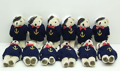 New Wholesale Job Lot Of 12 x Sailor Teddy Bears Plush Soft Toys - Free Delivery