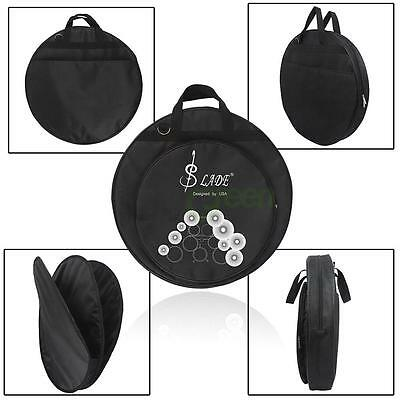 New LADE Oxford Cloth Carrying Protable Waterproof Cymbal Bag with Padded Black