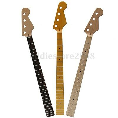 21 Frets Maple Neck Rosewood Fretboard For Electric Bass Neck Replacement Parts