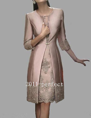 Lace Long Mother of the Bride Dresses Wedding Suit Dresses Evening Gowns Jacket