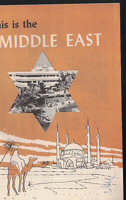 This is the Middle East Booklet 1958 Saudi Arabia Iran Iraq Israel Lebanon