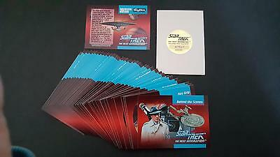 Star Trek TNG The Next Generation Behind the Scenes card set. 40 cards.