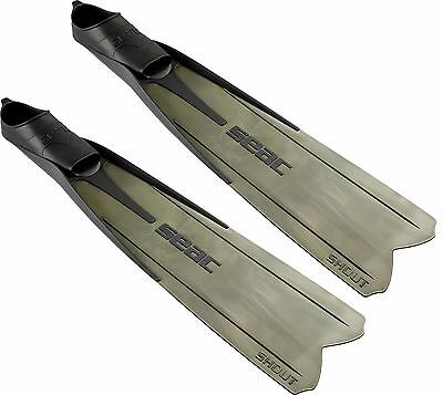 SEAC Shout S900 Spearfishning Apnea Freediving Long Fins Flippers -Sizes 6 to 13