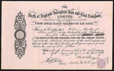 North of England Industrial Iron and Coal Co. Ltd., 1870