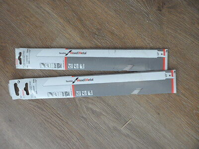 bosch x2 packs of  5 reciprocating saw blades 300mm