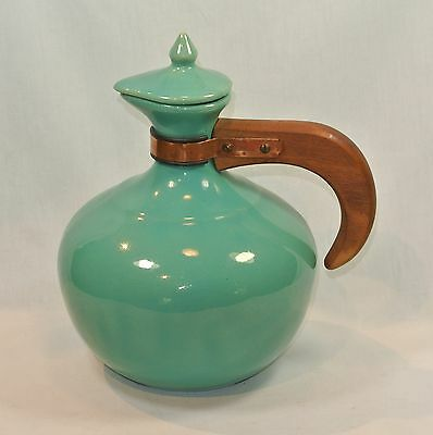 Vintage BAUER California Pottery PLAINWARE Green Coffee Server Carafe with Lid