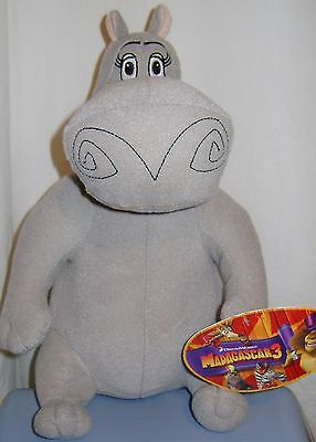 "Madagascar 3 Gloria Hippo 12"" Stuffed Plush Toy Factory w/ tag 2012"