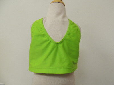 Heart & Soul Size SMALL child Ruched Back Lime Dance Bra NWT