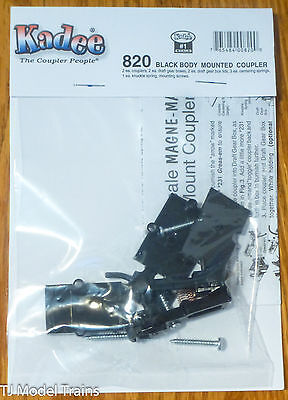 Kadee #820 (#1 Scale) Black Body Mount w/Standard Draft Gear Box