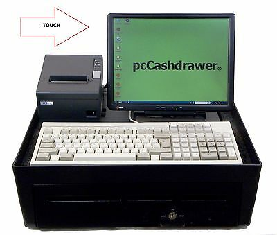 Touch Screen Portable Cash Register Point Of Sale  w/ POS Software