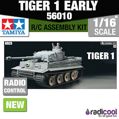 56010 Tamiya German Tiger I Tank 1/16th R/C Radio Control Assembly Model Kit