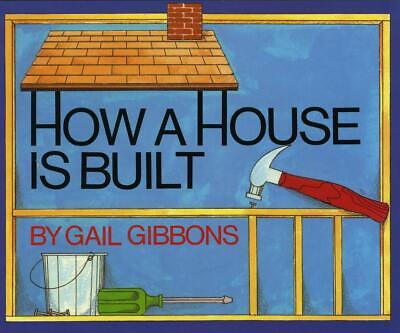 How a House Is Built by Gail Gibbons (English) Hardcover Book Free Shipping!