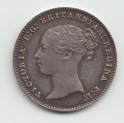 Very Rare 1853 Proof Silver Threepence 3d - Victoria.