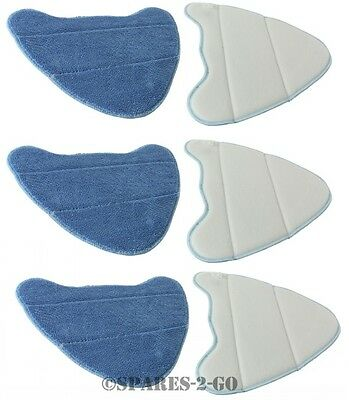 Vax S3 S3S S2S-1 PRO Steam Cleaner Mop Pads Microfibre Washable Pad Covers x 6