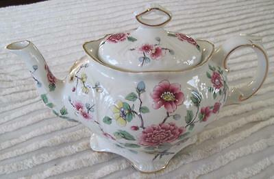 James Kent Old Foley Staffordshire Chinese Rose 4 Cup Teapot Made in England
