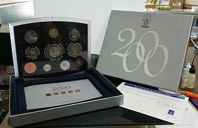 2000 Royal Mint Millennium United Kingdom 10 Coin Proof Set