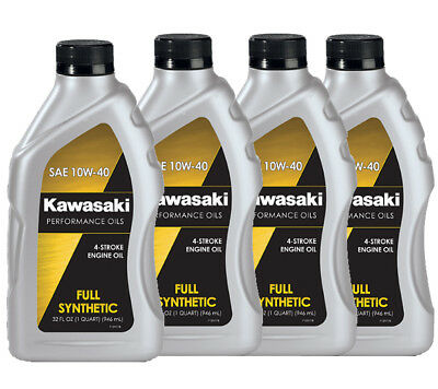 Genuine Kawasaki 10W40 Synthetic 4 Stroke Motorcycle Oil 4-Pack