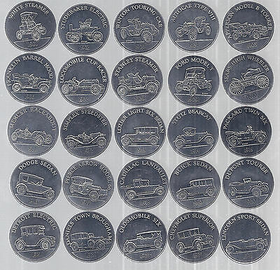 1968 Sunoco/DX Series 1 Antique Car Coin Collection, Lot of 25, 1901-1925